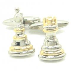 キングとクィーンのチェスのカフス(カフリンクス/カフスボタン)