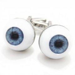思わず目が点?!ブルーの瞳の目の玉カフス(カフリンクス/カフスボタン)