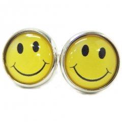 いつも心に微笑みを!懐かしいスマイルマークのカフス(カフリンクス/カフスボタン)