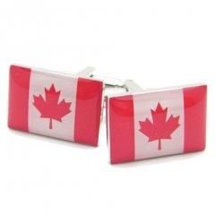 メープルリーフが色鮮やかなカナダ国旗のカフス(カフリンクス/カフスボタン)