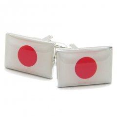 頑張れニッポン!日の丸鮮やか日本国旗のカフス(カフリンクス/カフスボタン)