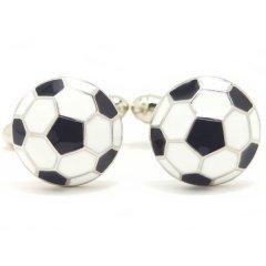 勝負は白黒はっきりサッカーボールのカフス(カフリンクス/カフスボタン)