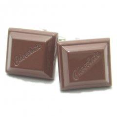 摘まんでお口に入れたくなっちゃう一粒チョコレートのカフス(カフリンクス/カフスボタン)