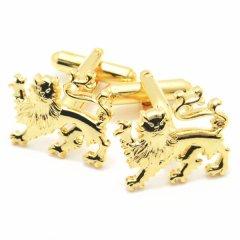 カムカムHappyなゴールドライオンのカフス(カフリンクス/カフスボタン)