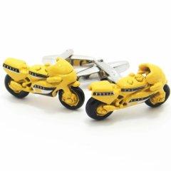 太陽のように元気な黄色のオートバイのカフス(カフリンクス/カフスボタン)