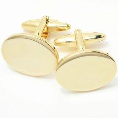 艶やかゴールド・ラウンドマークのカフス(カフリンクス/カフスボタン)