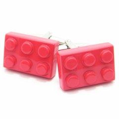 インパクト勝負!!真っ赤なLEGOブロックのカフス(カフリンクス/カフスボタン)