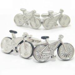 全2色・心地良い風に吹かれながら走りたい自転車のカフス(カフリンクス/カフスボタン)
