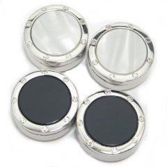 全2色・ボタンカバー シルバー×シャイニーパール、ブラックオニキスのボタンカバー