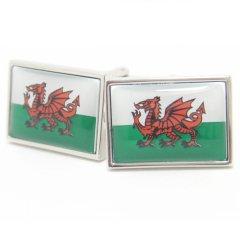ウェールズ国旗ドラゴンマークのカフス(カフリンクス/カフスボタン)