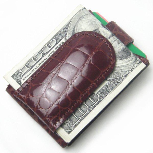 97cca10a6d717b マネークリップ・カード・小銭入れも付いたマルチなワニ革マネークリップ