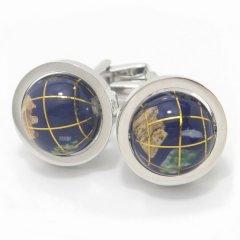 世界の中心はあなた!地球儀のカフス(カフリンクス/カフスボタン)