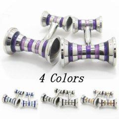 全4色・ストライプ・カービング・カフス(カフリンクス/カフスボタン)