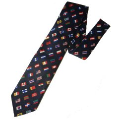 面白ネクタイ◆この一本で世界を一つに目指せ世界平和!!万国旗のネクタイ
