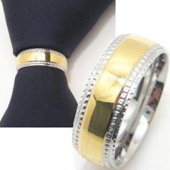ネクタイリング◆ゴールド×サイド・ダブル・エッジのタイリング