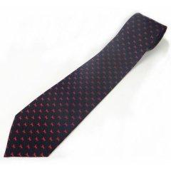 レッド・颯爽と駆ける馬の小紋柄の西陣織ネクタイ