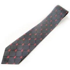 グレー・招き猫で運気上昇の西陣織ネクタイ