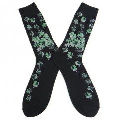靴下◆ラッキーのシンボル!!クローバーが沢山のメンズソックス