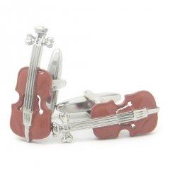 木の色目がリアル!!クラシック・バイオリンのカフス(カフリンクス/カフスボタン)