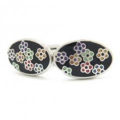 5colorカラフル小花のカフス(カフリンクス/カフスボタン)