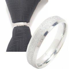 ネクタイリング・ラメ×エッジシャインシルバーのタイリング (スカーフ留)