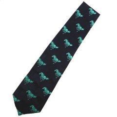 全4色・颯爽と駆けめぐる馬の大紋柄西陣織ネクタイ