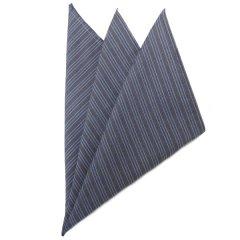 高級オーダーシャツ生地ポケットチーフ・和テイストストライプのポケットスクウェア