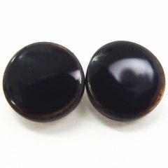 黒・白蝶貝のボタンダウンピアス
