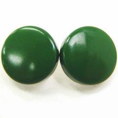 緑・白蝶貝のボタンダウンピアス