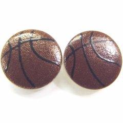 バスケット・白蝶貝のボタンダウンピアス