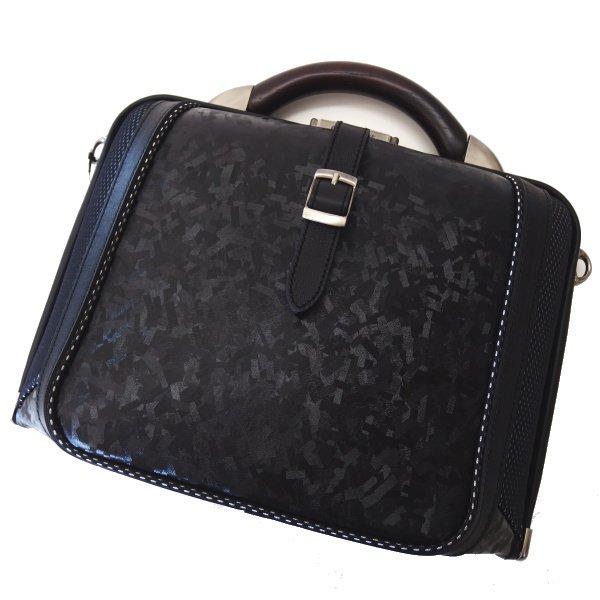 【DonGiovanniドン・ジョバンニ】ニューダレスバッグ・メタリックブラック(S)通勤・ビジネスバッグ