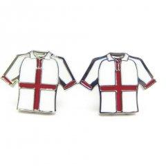 イングランド赤と白のユニフォームのカフス(カフリンクス/カフスボタン)