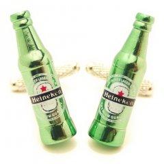 思わず飲みに行きたくなるハイネケンビール瓶のカフス(カフリンクス/カフスボタン)