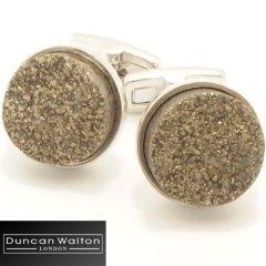 【DuncanWalton】Buxtonゴールデンパイライトのカフス(カフリンクス/カフスボタン)