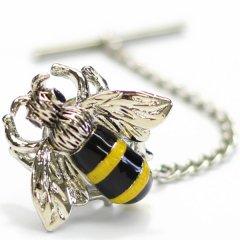ブンブン蜜蜂のタイタック(ピンブローチ)