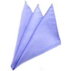 日本製シルク100%・光沢感の美しいポケットチーフ・サテン・サックス・ポケットスクウェア