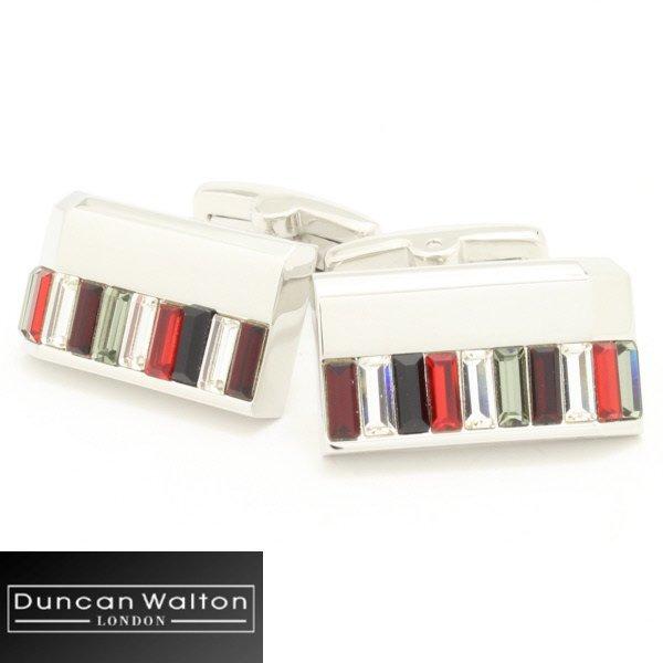 【DuncanWalton】Holdenスワロフスキー・レッドのカフス(カフリンクス/カフスボタン)
