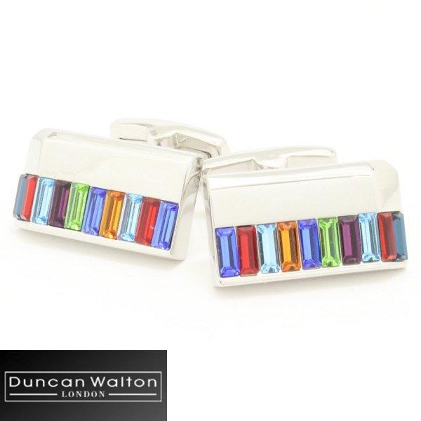 【DuncanWalton】Holdenスワロフスキー・マルチカラーのカフス(カフリンクス/カフスボタン)