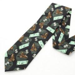 面白ネクタイ・金融関連の方に$ドル模様のユニークネクタイ