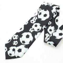 面白ネクタイ・ボールがゴロゴロBigサッカーボールのユニークネクタイ