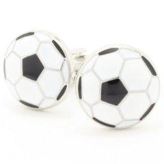 勝負は白黒つけたいサッカーボールのカフス(カフリンクス/カフスボタン)