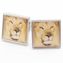王者の風格を袖元に百獣の王ライオンのカフス(カフリンクス/カフスボタン)
