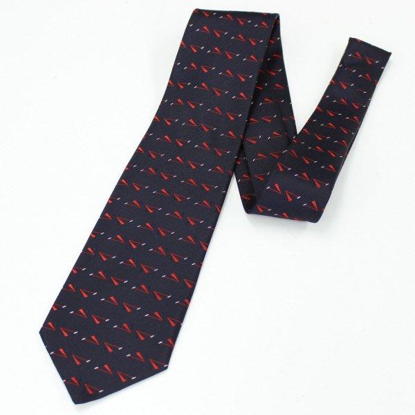 全3色・勝利のV・V字小紋柄・レッドの西陣織ネクタイ