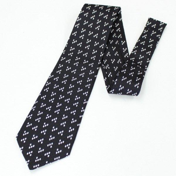 全3色・ドット小紋柄・ホワイトの西陣織ネクタイ