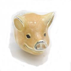 【SATURNO・サツルノ】ラペルピン・微笑み豚・ブタのタイタック(ピンブローチ)