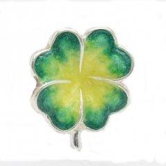 【SATURNO・サツルノ】ラペルピン・四つ葉のラッキークローバーのタイタック(ピンブローチ)
