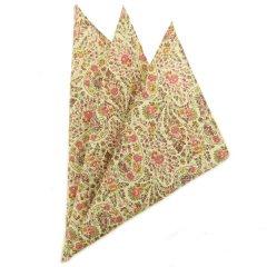 日本製・汗も拭けちゃう綿100%・お花ペーズリー・ピンク・ポケットチーフ・ポケットスクウェア