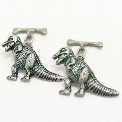 ティラノサウルスと骨のカフス(カフリンクス/カフスボタン)