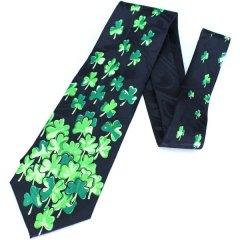 面白ネクタイ・シャムロック・クローバー柄が沢山のユニークネクタイ
