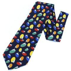 面白ネクタイ・カラフル卓球ラケットが沢山のユニークネクタイ
